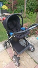 Silver cross pioneer travel complete system + isofix base