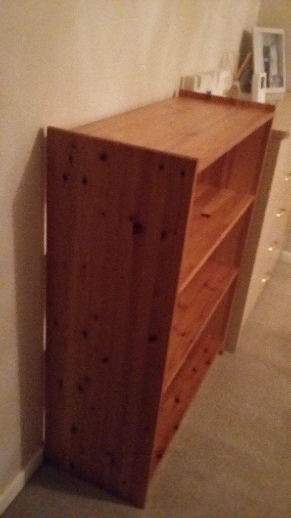 Large solid pine book shelves unit, great condition