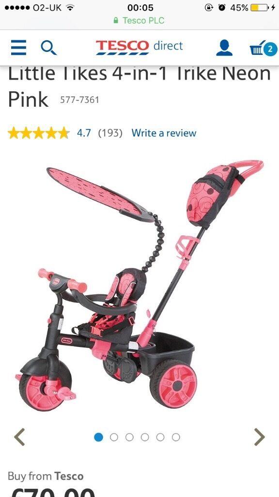 4in1 smart trike pink