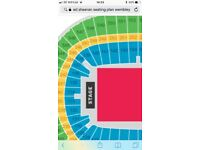 Ed Sheeran Wembley Saturday 16th June