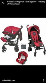 Chicco Lite Weight Travel System Plus