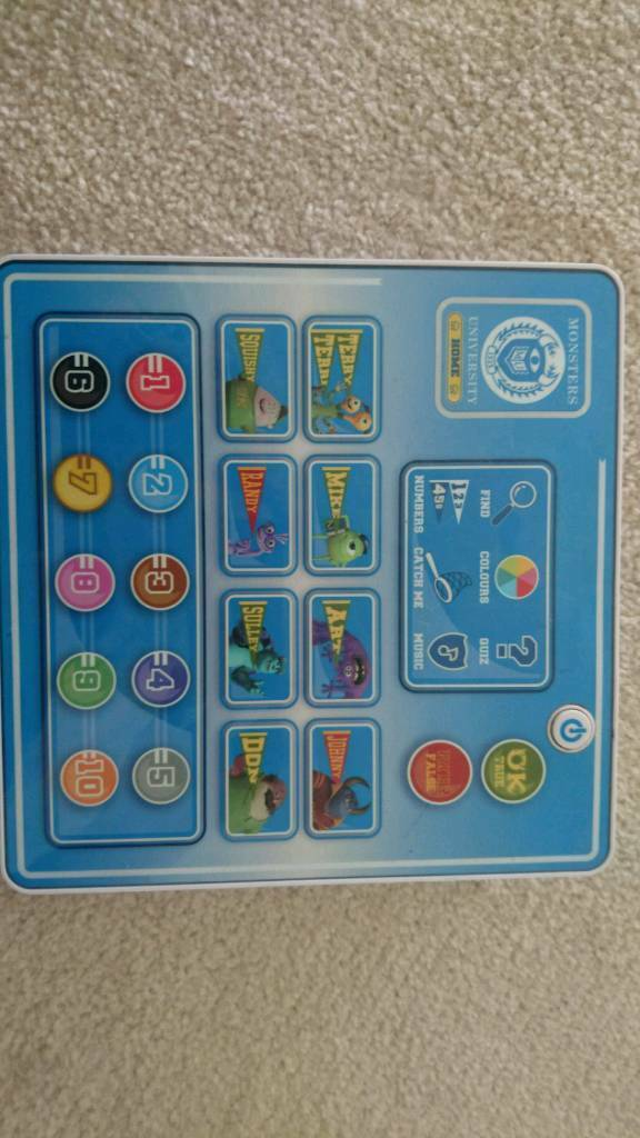 Monsters University learning toy game