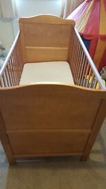 Mothercare cot bed ex condition