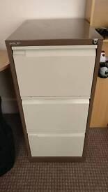 3 Tier Bisley Filing Cabinet