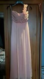 Dusky pink bridesmaid dress