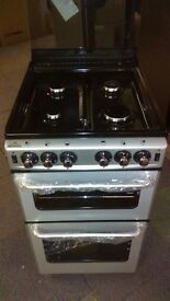 NEWWORLD silver 50Cm Gas Cooker in Ex Display which may have minor marks or blemishes.