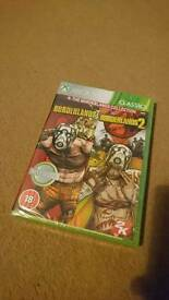 Borderlands 1 + 2 for xbox 360 new and sealed!