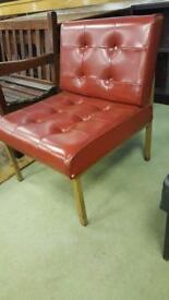 Mid Century Modern Tufted Chair With Stainless Steel Legs