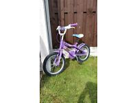 "Girls 14 "" bike in very good condition can deliver for a small charge"