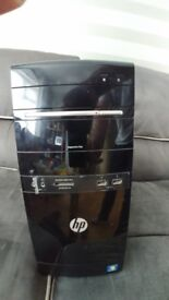 HP Quad Core Desktop PC with Monitor