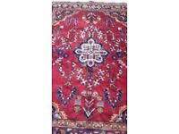 Persian Hand Made Rug - Red Blue White