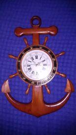Ornamental anchor clock