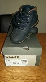 Timberland Boys Navy Boots Size 2 (34.5)