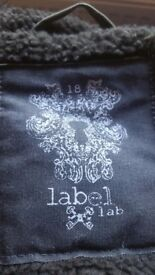 LABEL LAB snorkel style winter coat with fur hood. BNWOT and never worn out.