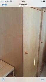 1 single wardrobe and 2 bedside tables very good quality
