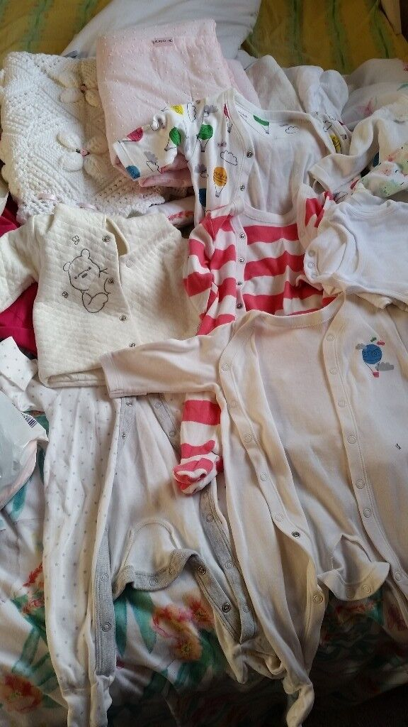 Baby girl clothes & sheets/blankets