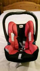 Britax baby safe infant car seat red