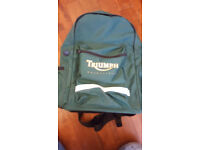 TRIUMPH motorcycle back pack