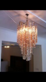 Vintage Italian Murano glass chandelier.