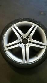 Mercedes-Benz Alloy with bridgestone tyre 225/40R18