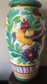 Vintage Italian Glazed Large Decorative Vase