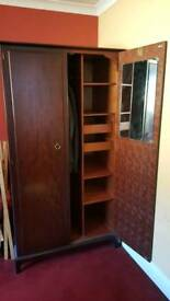 Wooden Wardrobe and matching side table