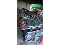 ambulance stretchers. Selection of 9. Medical table.
