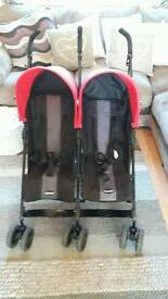 Obaby double pushchair
