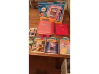 Vtech Storio interactive E-Reading system with box, carrycase/backpack and 4 x cartridges