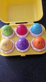Tomy cracking eggs