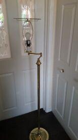 MODERN BRASS SWING ARM FLOOR LAMP