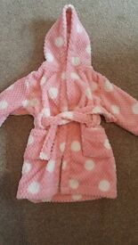 Girls dressing gown age 2