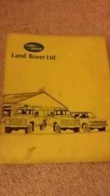 Landrover 90 & 110 Workshop Manuals