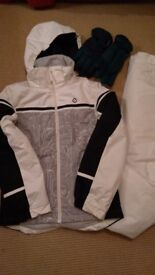 Women's Ski Suit and Gloves