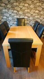 Sturdy table & 6 chairs