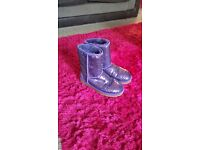 Ugg boots size 6, ladies purple sequin glitter, **only been worn once**