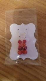 Home made silver plated earrings