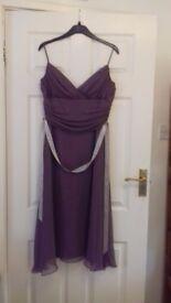 Purple chiffon evening dress, size 12