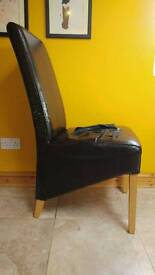 5 kitchen chairs damaged