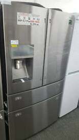 New graded Samsung American style 4 door fridge freezer with 12 months guarantee