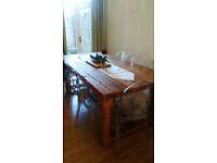 Solid Oak Vintage 8 seater Dining Table