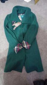 Brand New Size 8 Green Wool Coat
