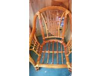 Wicker furniture, 2 single chairs &1 dble.