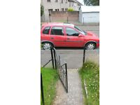 Red corsa mot out end of July .For spares or repairs sensible offers