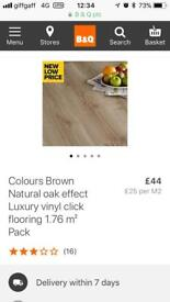 9 packs of natural oak effect luxury click vinyl flooring