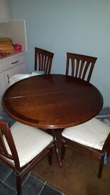 Dining Table Extending And Four Chairs