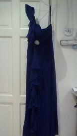 Elegant chiffon blue dress
