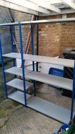 Metal 2 Bay Racking Storage Shelves