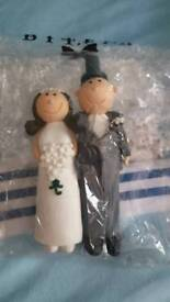 Qwerky wedding bride groom cake topper brand new