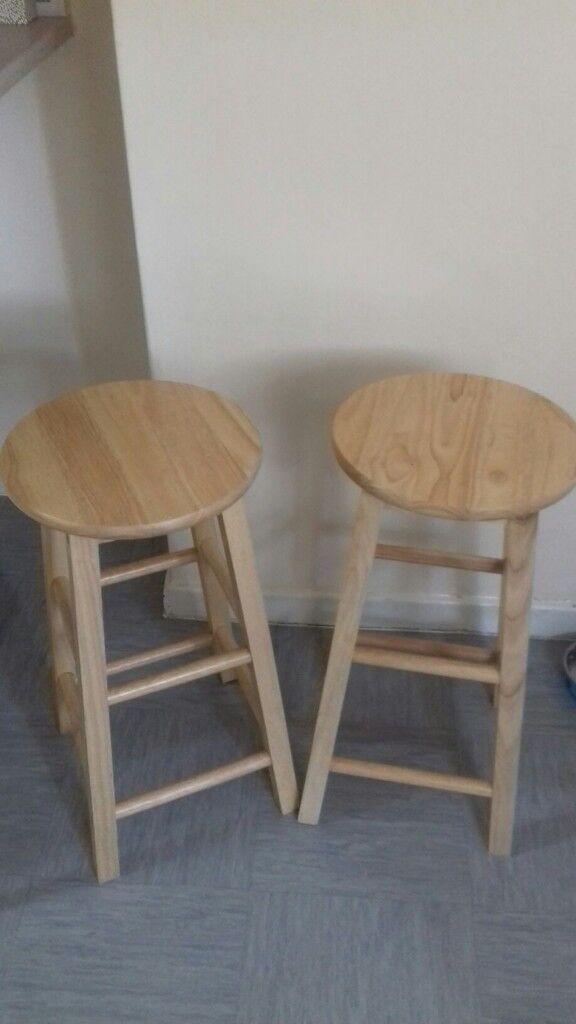 Strange 2 Pine Breakfast Bar Stools In Dunstable Bedfordshire Gumtree Evergreenethics Interior Chair Design Evergreenethicsorg